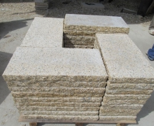 Yellow Granite Paver, Top face bush hammered, sides cleaved, bottom sawn cut.
